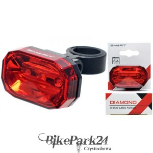 Lampa Rowerowa Tył Smart Diamond 3 led