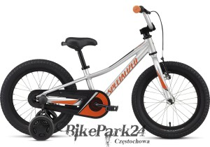Rower dziecięcy Specialized Riprock 16 Coaster Light Silver - Moto Orange - Black